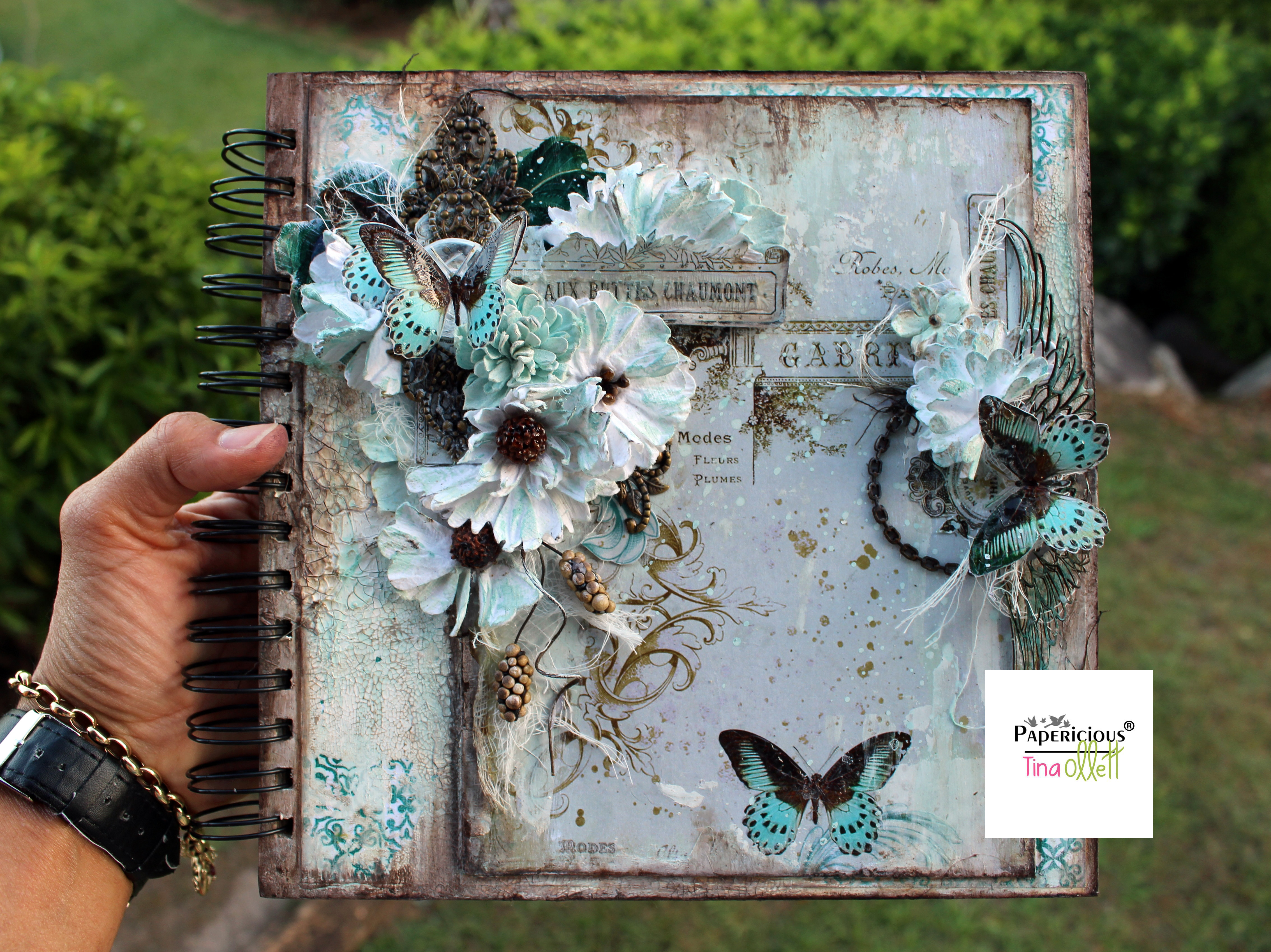 """""""Gabrielle"""" Journal Book Cover for Papericious"""